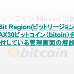 Bit Region(ビットリージョン) MAX30ビットコイン(bitoin)を寄付している管理画面の解説