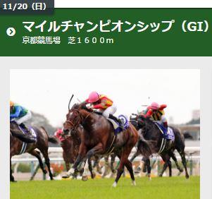 第33回 マイルチャンピオンシップ(GI)